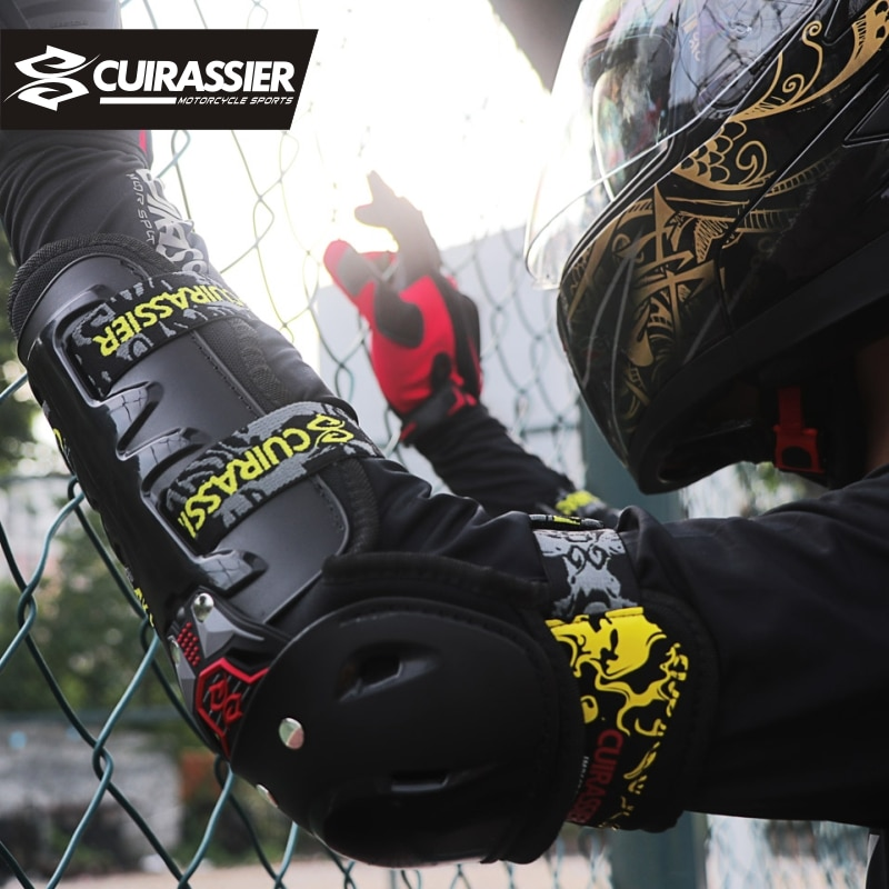 Cuirassier Motorcycle Motocross Off-Road Racing Elbow Pads Protection Knee Brace Safety Guards Protective Sports Protector Armor enlarge