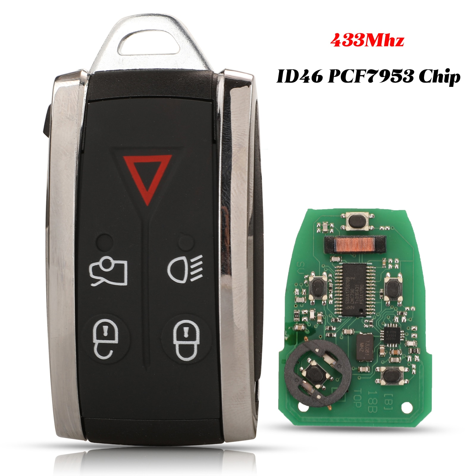 jingyuqin 5 Buttons 433Mhz Remote Smart Car Key ID46 PCF7953 Chip Fob For Jaguar XF XF XFR XK XKR 2009 2010 2011 2012 2013