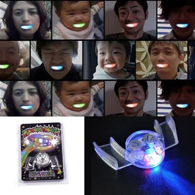 1 шт. Творческий мигающий светодиодный светильник на Расчалки рта шт светятся зубы Хэллоуин вечерние Trick Забавные игрушки украшения игрушка декомпрессии