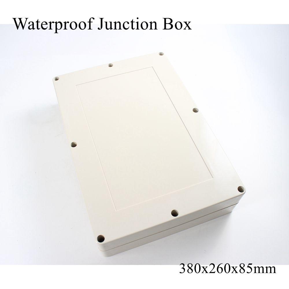 صندوق بلاستيك مقاوم للماء 380 × 260 × 85 مللي متر ، موصل كابل خارجي ، علبة مشروع كهربائي ABS IP65 380*260*85 مللي متر