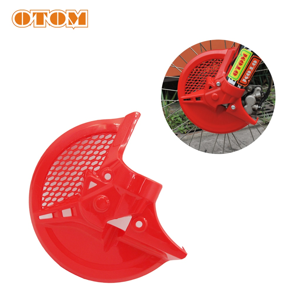 motorcycle front brake disc rotor for honda rs125gp rs 250 gp vtec 400 cbr400 f2 vfr 400r cbr900rr super hawk firestorm gold OTOM For Honda Motorcycle Front Brake Disc Rotor Guard Cover Protector For CRF250R CRF250RX CRF450R/RX Motocross