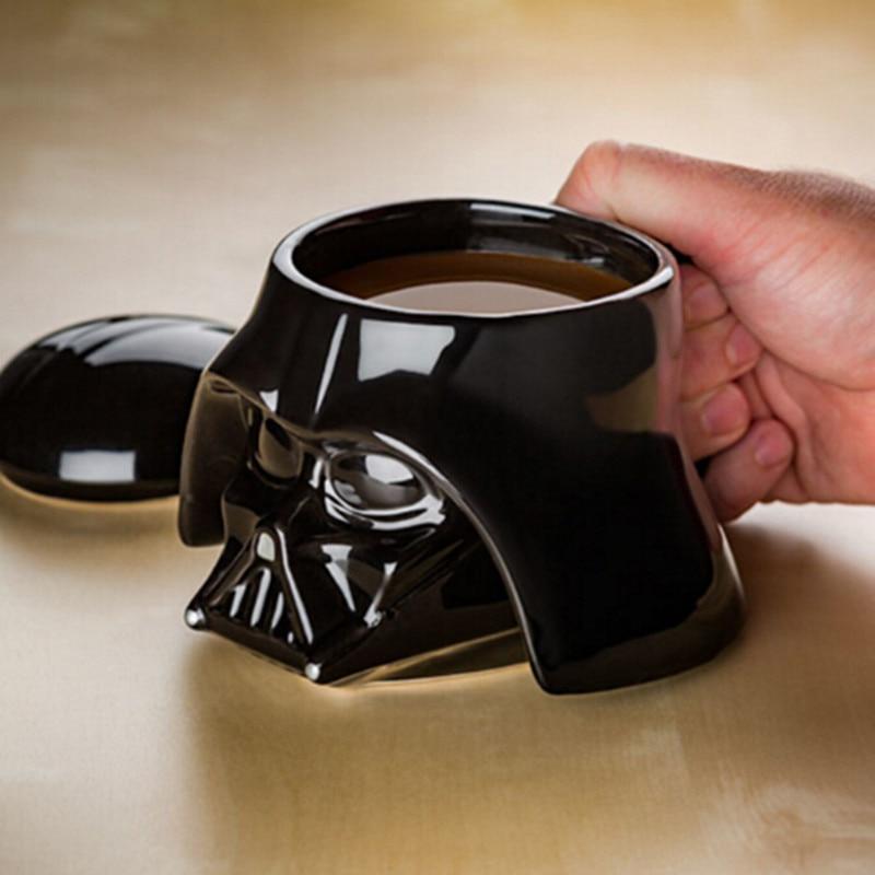 Taza creativa de gran capacidad Rick y Morty Star Wars taza de café de dibujos animados 3D cerámica taza de cerveza regalos para niños productos para el hogar