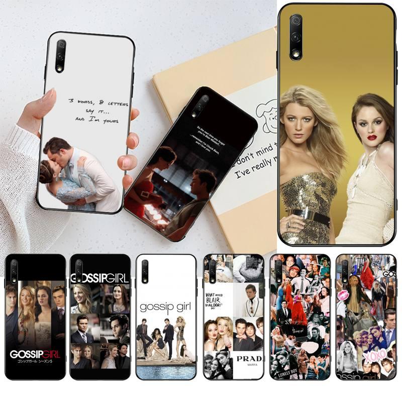 Funda suave para teléfono de TV serie Gossip Girl para Huawei Honor 30 20 10 9 8 8x 8c v30 Lite view pro