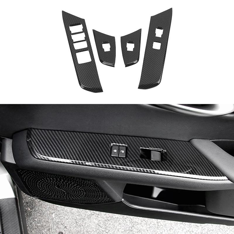Для Lexus UX200 UX250H UX260H 2019 2020 ABS стеклоподъемник из углеродного волокна Панель управления рамкой переключателя подлокотника крышки панели наклейки