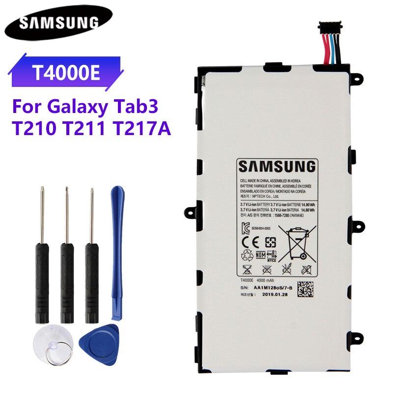 100% Original Tablet batería T4000E T4000C T4000U para Samsung GALAXY Tab3 7,0 T210 T211 T2105 T217A de baterías 4000mAh