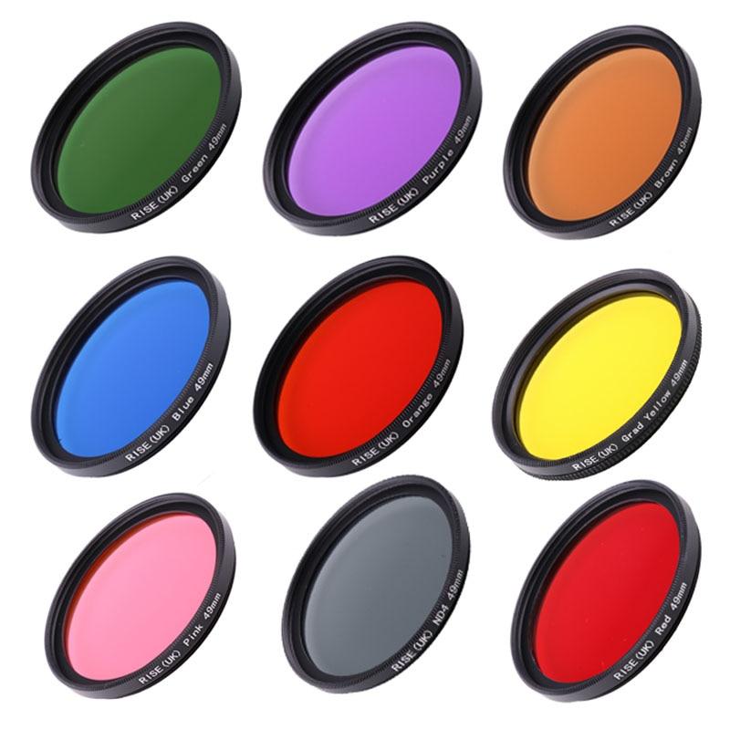 9 الألوان/مجموعة كامل اللون تصفية كيت DSLR كاميرا عدسة تصفية 49 مللي متر 52 مللي متر 55 مللي متر 58 مللي متر 62 مللي متر 67 مللي متر 72 مللي متر 77 مللي متر...