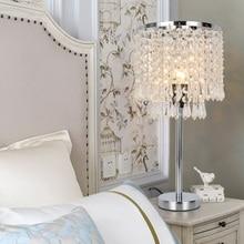Lukloy led 크리스탈 테이블 램프 침실 머리맡 조명 럭셔리 램프 거실 현대 led 장식 테이블 전등