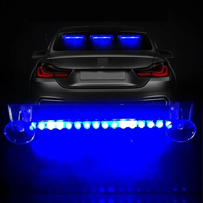 1 шт., автомобильная светодиодная сигнализация на солнечной батарее