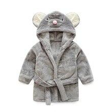 Peignoir cosplay en flanelle pour enfants   robe pour bébés de 6-48 mois, vêtements de nuit en fourrure douce pour garçons et filles