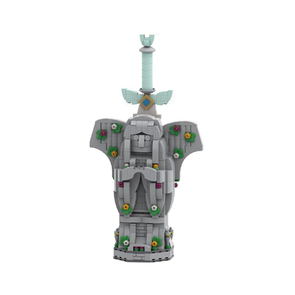 لعبة قلعة MOC لعبة أسطورة مسرح هايلار الصغير لبنات البناء آلهة السيوف سيد السيف سلاح الطوب اللعب