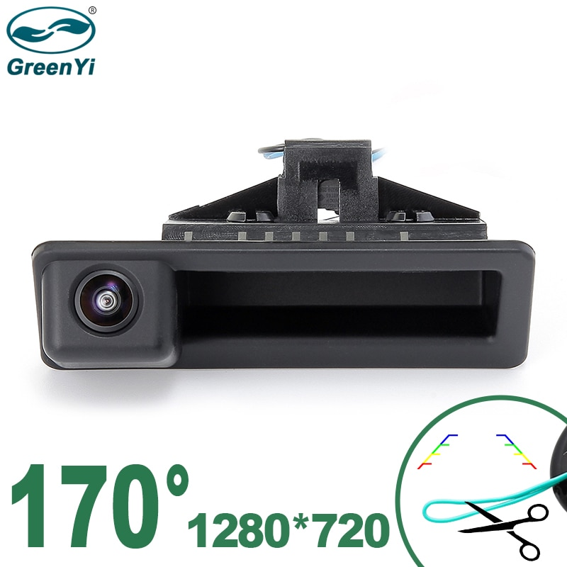 GreenYi 170° HD 1280x720P Night Vision Vehicle Rear View Camera For BMW 3 Series BMW 5 X5 X1 X6  E82 E84 E88 E90 E91 E92 E93 E60