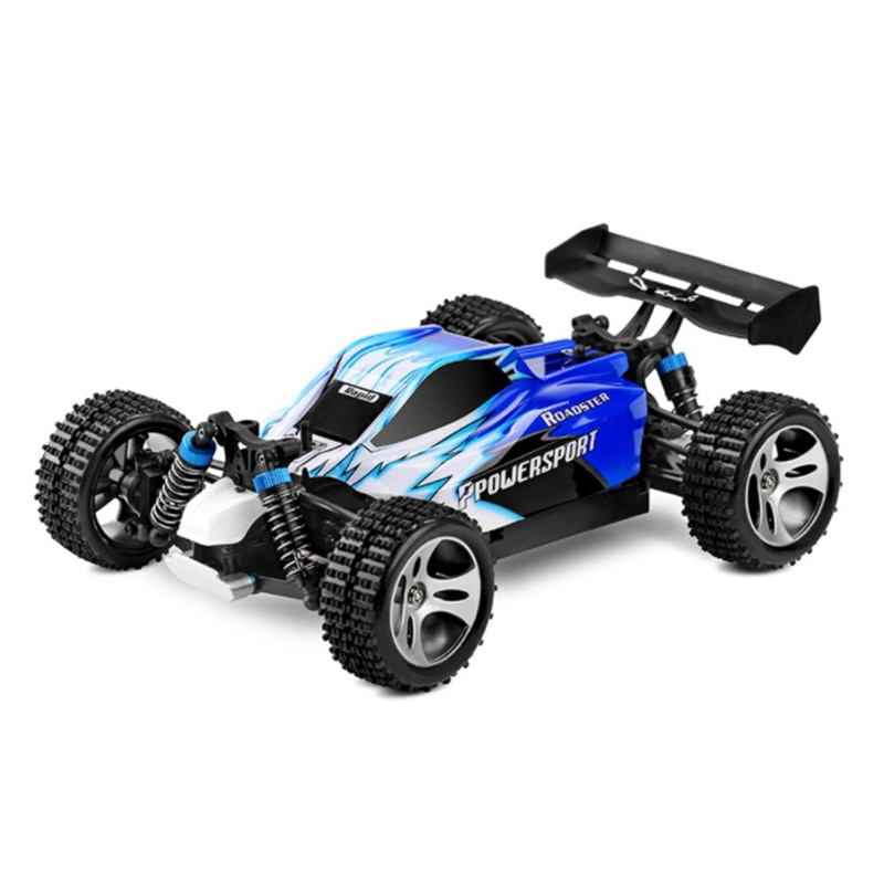 Wltoys A959 RC Car Vortex 1/18 2.4G 4WD Electric Off-Road Independent Suspension Buggy RTR-Blue Remote Control Car Toys