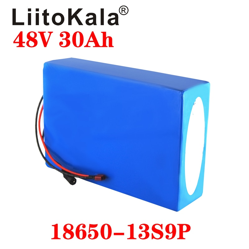 Batería de bicicleta eléctrica LiitoKala 18650 48V 20AH 30ah 15ah 12ah 25ah batería de litio 48V 18650 con BMS