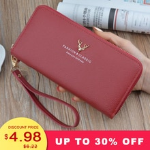 New Women Long Wallet Card Purse Fashion Classic Women Burse Top Quality PU Leather ID Holder Clutch Notecase Zipper Wallet