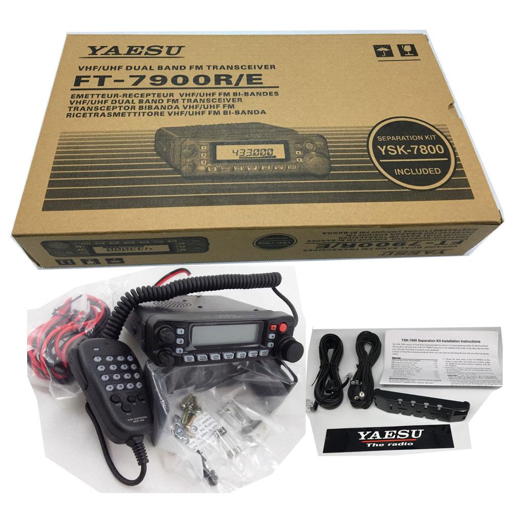 Yaesu FT-7900R/e 50w de alta potência banda dupla fm transceptor 2 metro 70cmmobile rádio amador