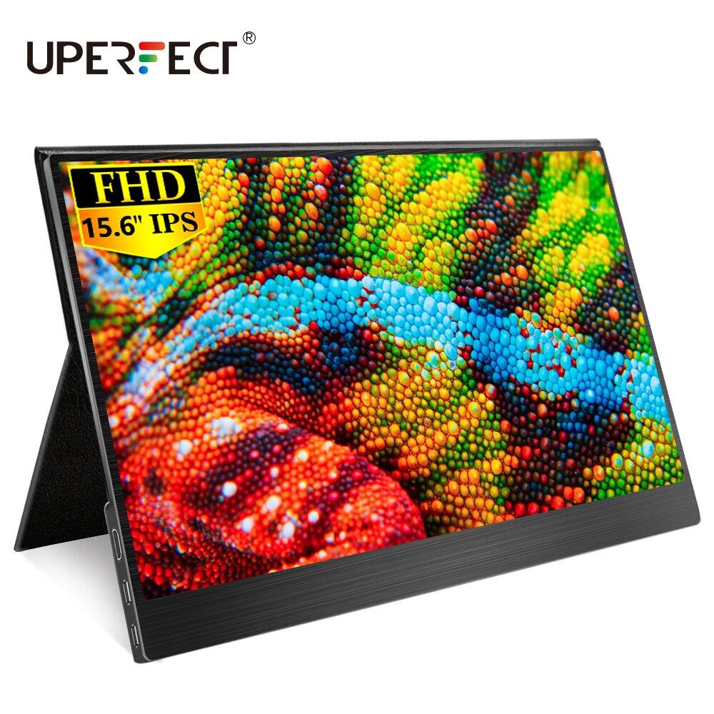 UPERFECT Monitor portátil 15,6 pulgadas USB C tipo-c HDMI externo segunda pantalla portátil de la computadora para PC Mac Laptop Phone PS4 Xbox