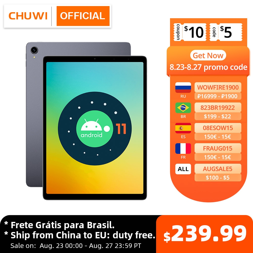 World Premiere Tablet PC CHUWI HiPad Plus Android 11 OS 11