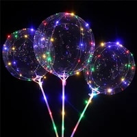 led balloon transparent helium clear luminous balloons with sticks wedding birthday party decorations kids led light balloon