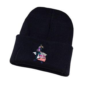 anime Jo-Jo's Bizarre Adventure Hat Kujo Jotaro Hat Cap Beanie Knitted Cap Cosplay Costume Unisex Print Adult Casual Cotton hat