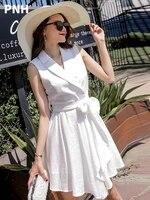 white dress womens little fresh summer korean high waist 2021 new temperament chiffon short skirt