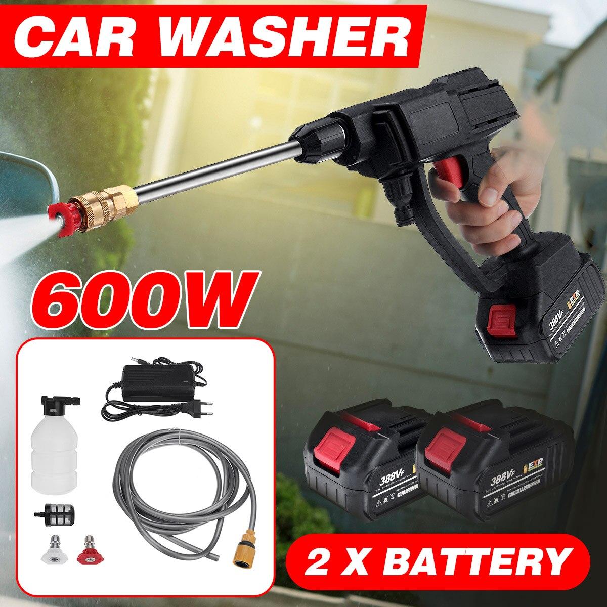 600 واط 24 فولت اللاسلكي ارتفاع ضغط آلة غسل سيارات الأنظف المحمولة غسيل السيارات مدفع رشاش مائي غسالة رغوة مولد للبطارية ماكيتا