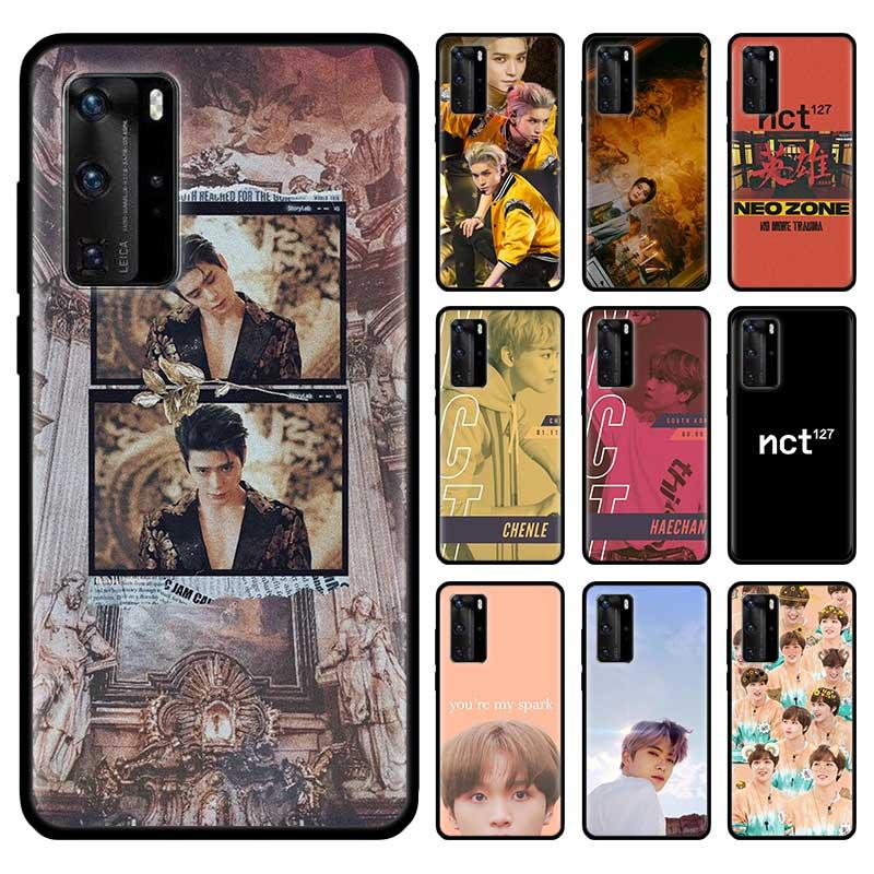 Kpop NCT 127 niños negro Tpu Capa para Huawei P30 P20 P40 Lite E P Smart Plus 2019 Mate 10 20 Pro caso Coque