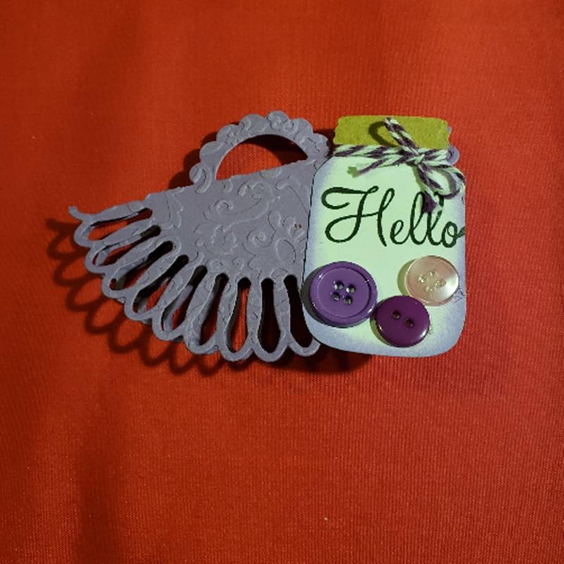 Kokorosa de corte de METAL muere corte mariposa caja de regalo bolsa ASA manualidades de papel de álbum de recortes perforador de tarjetas de álbum de