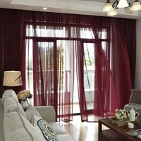flwoo multiple color options screens window curtains living room kitchen modern tulle curtains for bedroom window