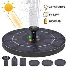 LED pompe de fontaine solaire 3.5W 5V Portable flottant solaire alimenté pompe de fontaine deau pour bain doiseau arrière-cour étang piscine jardin décor