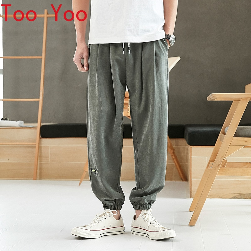 Spring and summer 2021 men's casual pants Loose sports pants for men's casual Japanese trousers long pants streetwear men