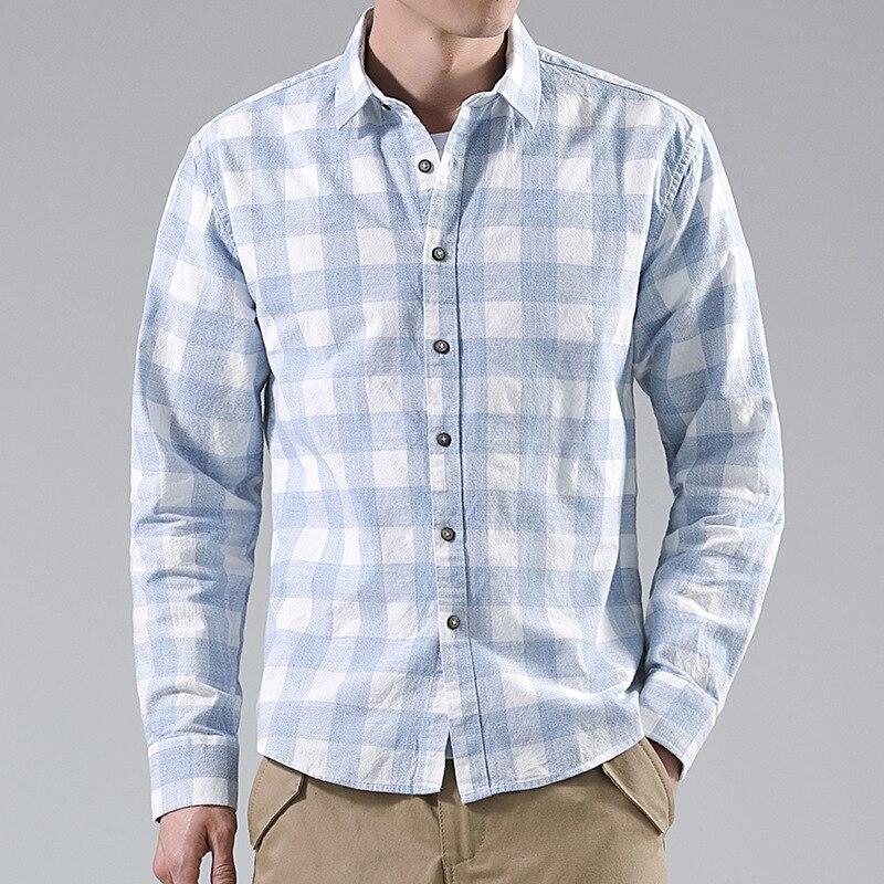 LUCLESAM мужская повседневная цветная рубашка в клетку, мужская рубашка с длинным рукавом, на пуговицах, мужская рубашка