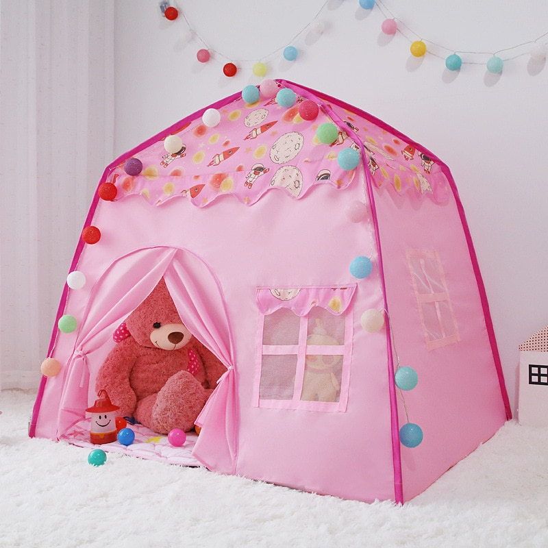 Children's Tent Game House Space Map House Princess Tent Baby Sleeping House Teepee Tent for Kids Kids Play Tent