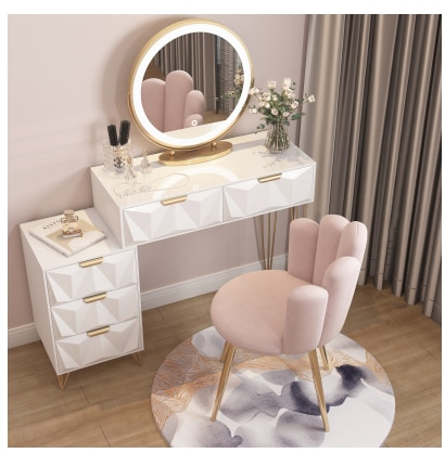 Северный Европейский легкий роскошный туалетный столик в спальню сетчатый красный стиль ins современный простой Туалетный Столик Прикроват...