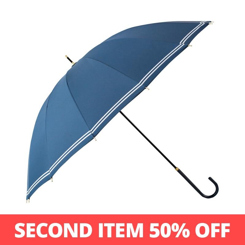 Tiohoh 16 k longo guarda-chuva chuva feminino à prova de vento golfe grils paraguas marinha branco viagens senhoras guarda-chuva grande promoção