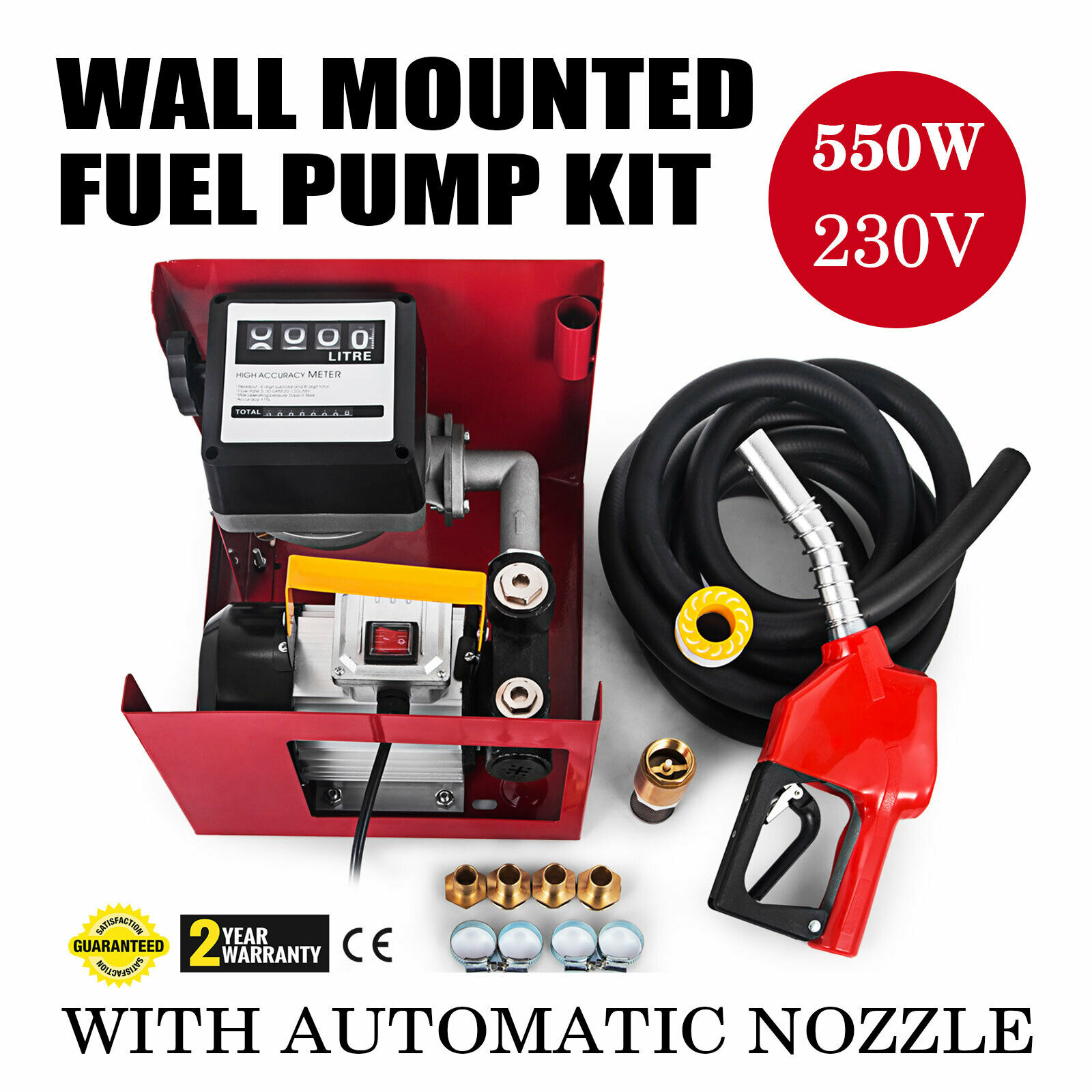 230V 550W Fuel Pump With Automatic Nozzle 60L / Min Diesel Induction Motor