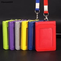for high grade pu card holder staff identification card neck strap with lanyard badge neck strap bus id holders