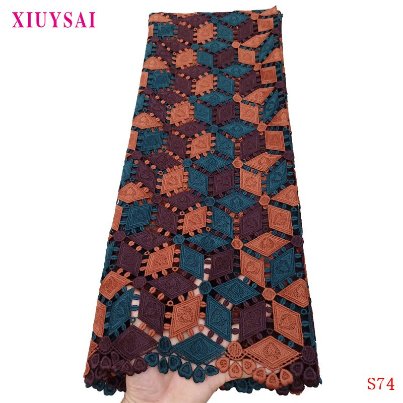 ¡Oferta! Cordón XIUYSAI africano, telas de encaje nigeriano, tela de encaje 2020 de alta calidad, tela de encaje marrón francés para boda