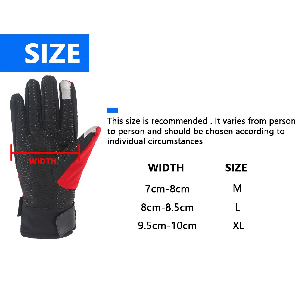 Waterproof Motorcycle Riding Gloves Winter Thicken Warm Touch Screen Full Finger Proteetive Non-Slip Breathable Cycling Gloves enlarge