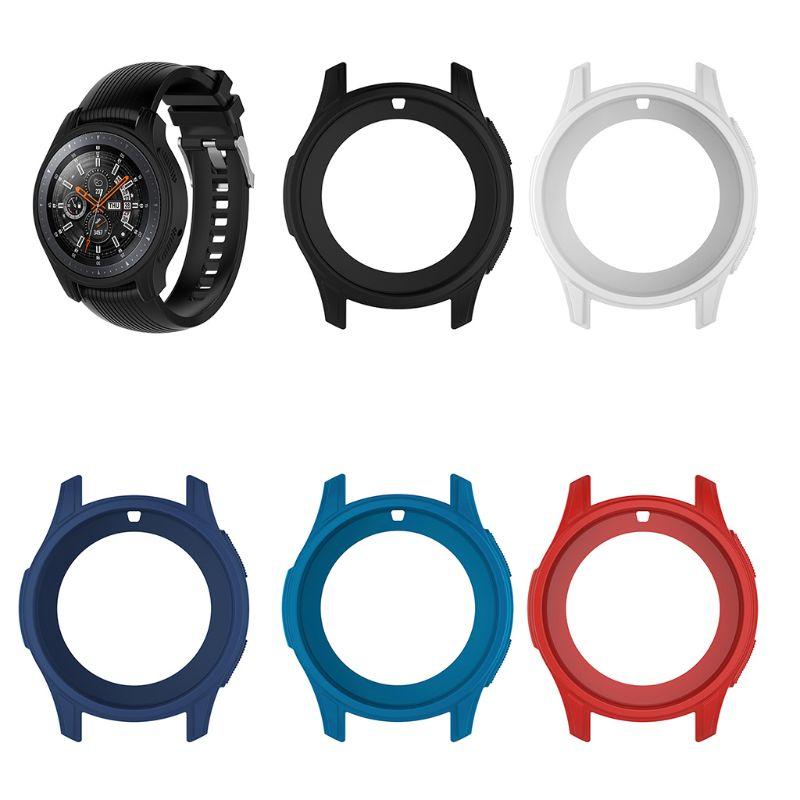 Funda protectora de silicona para Samsung Galaxy Watch, carcasa de silicona suave...