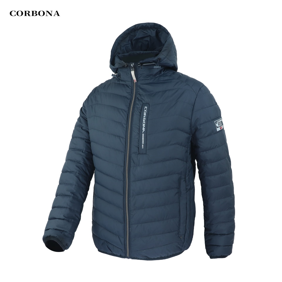 Corbona Autumn Man's Winter Jacket Business Casual Lightweight Selected Cotton Outwear Sports Coat Oversize Male Clothing Homme