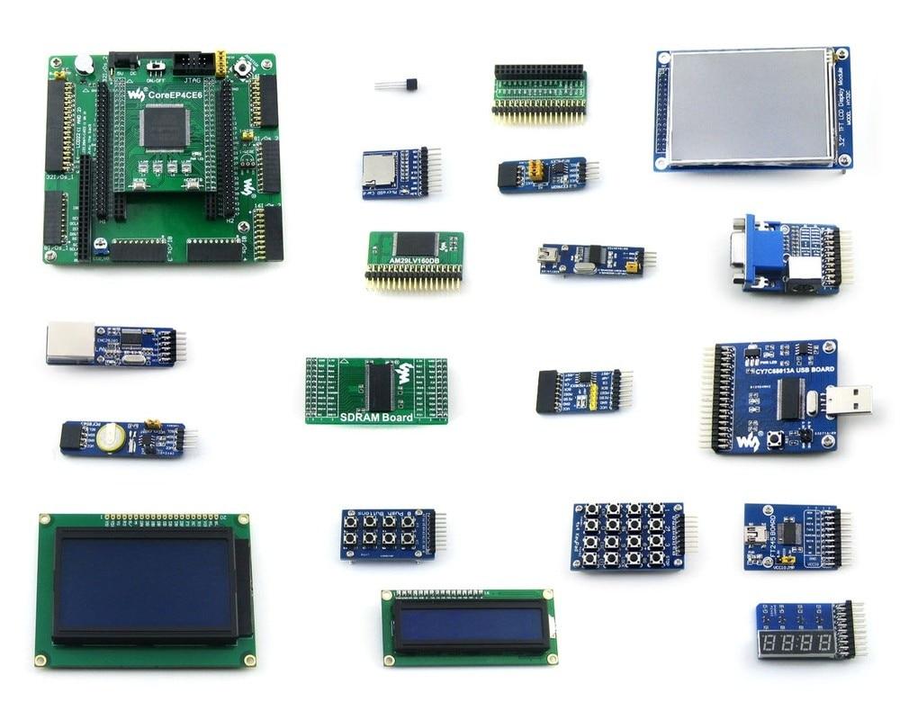 EP4CE6-C EP4CE6E22C8N ALTERA Cyclone IV FPGA Development Board + 19 Accessory Modules Kits = OpenEP4CE6-C Package B