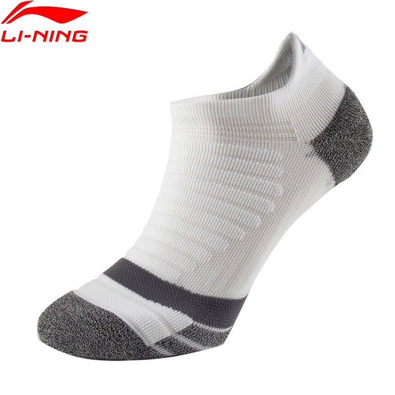 Li-Ning Unisex Running Footie Low Cut Size 39-46 Reflective 63.7%Nylon 31%Polyester 5.3%Spandex LiNing Soft Sports Socks AWSR012