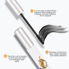 1 Pcs 4D Silicone Brush Head Mascara Mini Mascara Thick And Curling Eyelashes Long-lasting Styling E