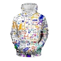 2021 spring and autumn color hoodie print mens and womens fun math logistics chemistry hooded streetwear 110 6xl
