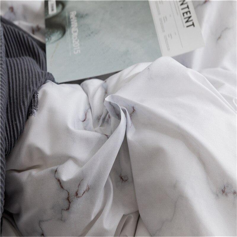 Black Lattice Duvet Cover Pillowcase Bed Sheet Simple Boy Girls Bedding Sets 2/3Pcs Single Double Bedlinen No Bed Sheet