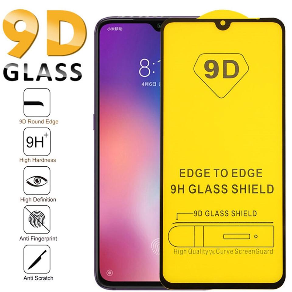 50pcs/lot 9D Full Cover Tempered Glass For Xiaomi 9 Pro 9T 9se Mi 10 Lite Screen Protector For xiaomi 8 pro 8SE Protective Film