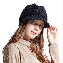 Mode femmes Bluetooth tricot chapeau casque fille sans fil Musical hiver chapeau chaud intégré micro haut-parleur stéréo pour le Sport de plein air