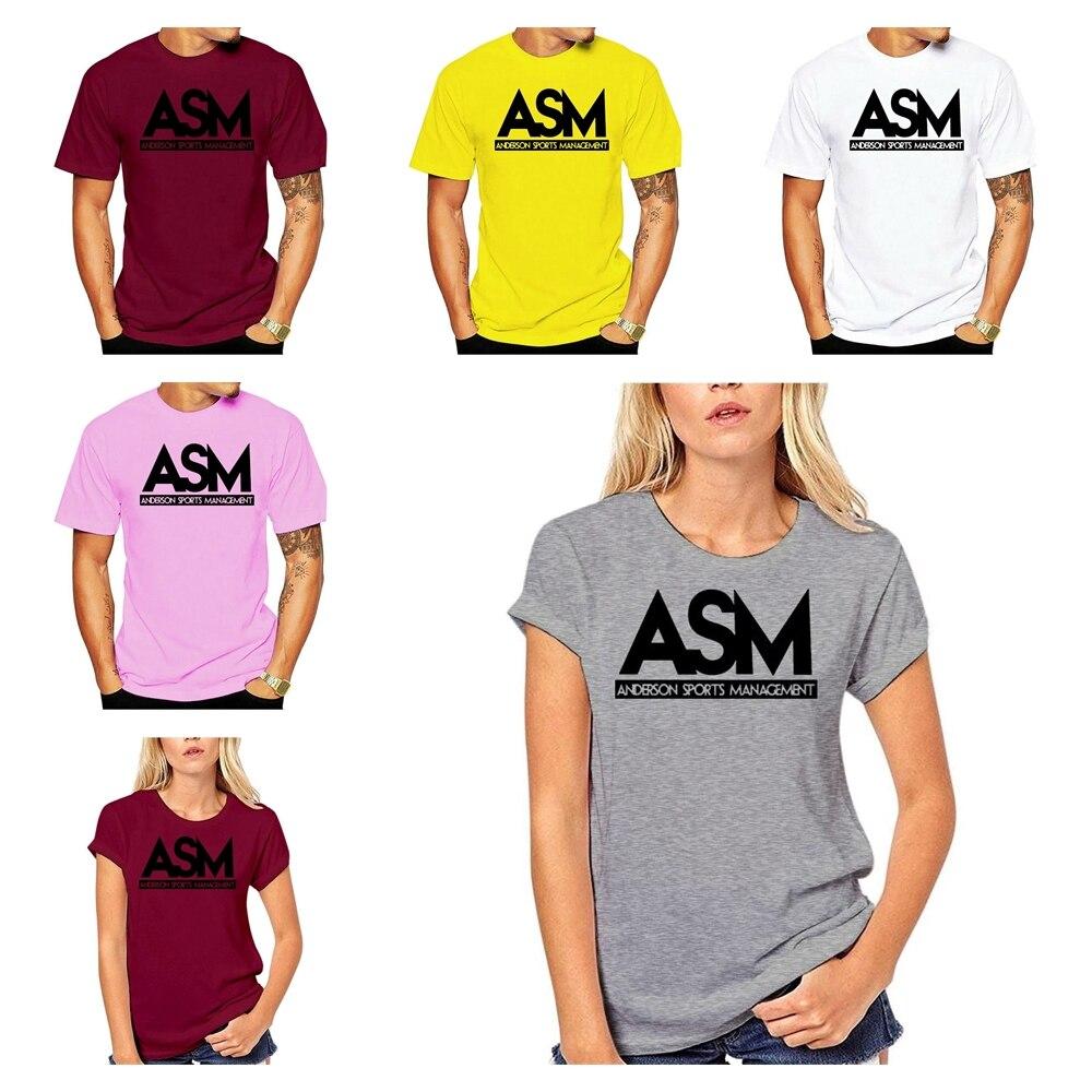 Products Cheap 100 Men Hot Cotton Asm Anderson Management Tee Funny Tv Series Dwayne Johnson T Shirt Mens T Shirt Size S - 5xl