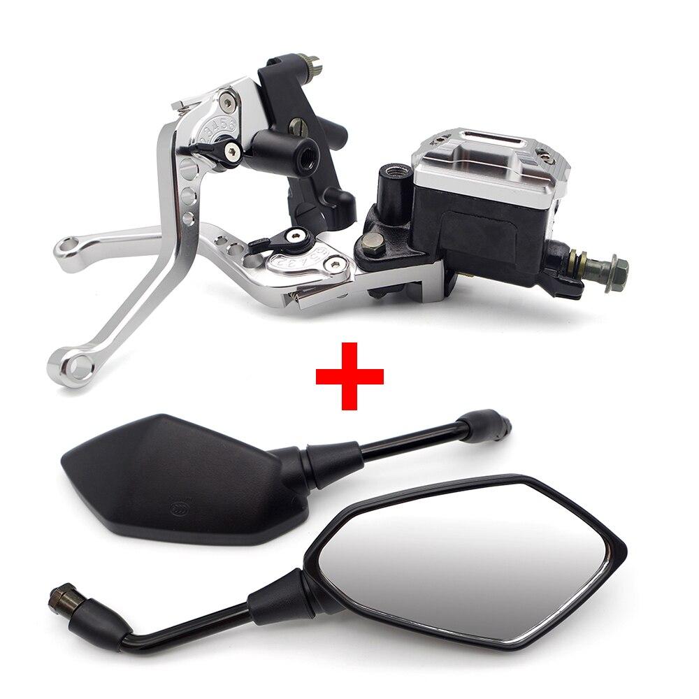 Motorcycle Clutch Brake Master Cylinder Levers Mirror Set For APRILIA SR 50 SHIVER 750 SXV RSV4 RS50 RS 125 PEGASO 650 RSV