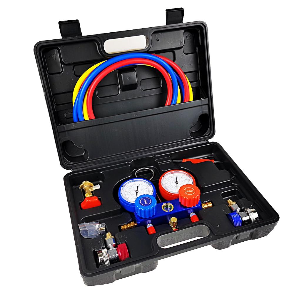 Автомобильный Кондиционер измеритель параметров хладагента двойной измеритель охладитель клапана R134a ct552